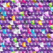 Colorful sequins embroidery background - dark purple color. — Stock Vector