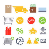 Set of icons for online shopping. — Stock Vector