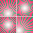 Set of red and green shiny backgrounds for design. — Stock Vector #55600415