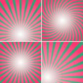 Set of red and green shiny backgrounds for design. — Stock Vector