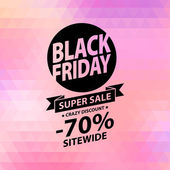 Black friday sale illustration. — Stock Vector