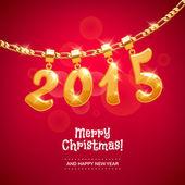 New year digits golden pendants. — Stock Vector