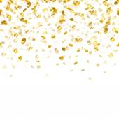 Golden confetti background. Seamless horizontal. — Stock Vector