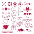 Set of love symbols. Design elements. — Stock Vector #61618295