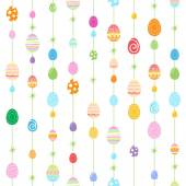 Colorful Easter eggs seamless pattern. — Stock Vector