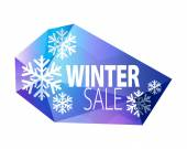 Winter sale faceted glass icon. — Stock Vector