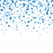 Blue confetti background. Seamless horizontal. — Vettoriale Stock