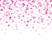 Pink confetti background. Seamless horizontal. — Stock Vector
