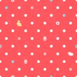 Easter polka dot seamless pattern in red. — Stock Vector #62105741