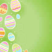 Decorative Easter eggs background - green color. — Stock Vector