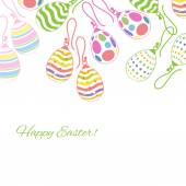 Decorative background with Easter eggs earrings. — Stock Vector