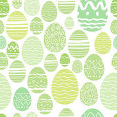 Seamless easter eggs pattern in green color. — Stock Vector