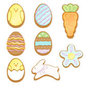 Set of decorated easter cookies. — Stok Vektör