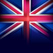 United Kingdom flag in blur style, faded black. — Stock Vector