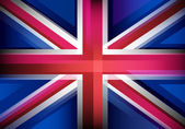 United Kingdom flag in blur style. — Stock Vector