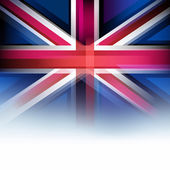 United Kingdom flag in blur style, faded white. — Stock Vector
