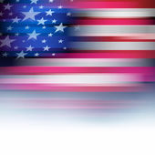 American flag in blur style, faded white. — Stock Vector