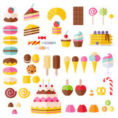 Set of sweet food icons. — Stock Vector