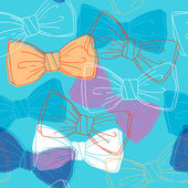 Sketch style bow ties seamless pattern. — Stock Vector