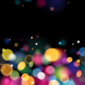 Abstract colorful bokeh blurry background. — 图库矢量图片