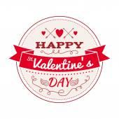 Valentines day greeting design. — ストックベクタ