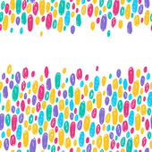 Colorful scribble doodle dots background. — Stock Vector