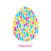 Colorful easter egg scribble background. — Stock Vector