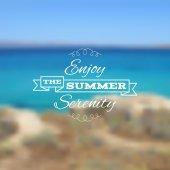 Vector seaside blurry summer landscape. — Stock Vector