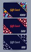 Discount cards set. Abstract background. — Cтоковый вектор