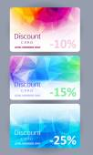 Discount cards set. Abstract background. — Stock Vector