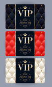 VIP cards with abstract quilted background. — Stock Vector