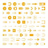 Arrows set, different styles cursors. — Stockvector