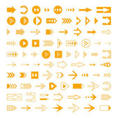 Arrows set, different styles cursors. — Vettoriale Stock