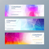 Set of mosaic faceted banners templates. — Stock Vector