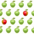 Realistic apples seamless pattern. — Stock Vector #68092689