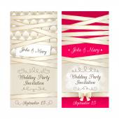 Wedding invitation cards set. — Stock Vector