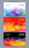 Discount cards set. Abstract background. — ストックベクタ