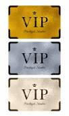 VIP cards with abstract background. — Stock Vector