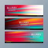 Set of blurry motion banners templates. — Stock Vector