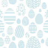 Seamless easter eggs pattern in blue color. — Stock Vector