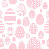 Seamless easter eggs pattern in pink color. — Stock Vector