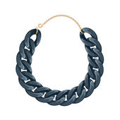 Chain necklace or bracelet - black color. — Stock Vector