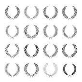 Set of vector laurel wreaths. — Stock Vector