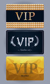 VIP cards with abstract backgrounds. — Stock Vector