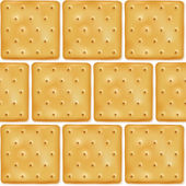Square cookies crackers seamless pattern. — Stock Vector