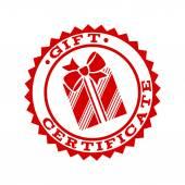 Gift certificate emblem symbol template. — Stock Vector