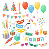 Celebration party carnival festive icons set. — Stockvector