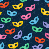 Colorful masquerade carnival masks seamless pattern. — Stock Vector