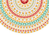 Colorful round jewels background. — Stock Vector