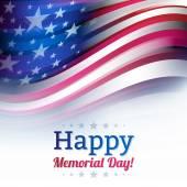 Bandiera americana in stile sfocatura, bianco sbiadito. — Vettoriale Stock